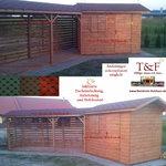 Gartenhaus Modell KLAUS für perfekte Ausnutzung von Randlagen in Ihrem Garten