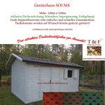 Gerätehaus Gartenhaus Gartenlaube Modell SOLMS