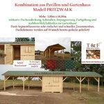 Kombination aus Gartenhaus und Pavillon Modell PRITZWALK