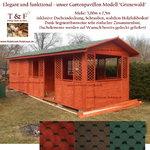 Kombination aus Gartenhaus und Pavillon Modell GRUNEWALD