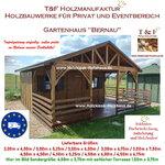 Gartenhaus Werkzeughaus Holzschuppen Bungalow Holzhaus mit Terrasse Modell Bernau