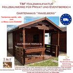 Gartenhaus Werkzeughaus Holzschuppen Bungalow Holzhaus mit Terrasse Modell Havelberg
